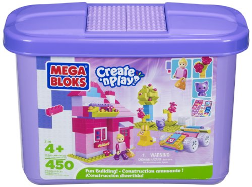 Building Blocks Purple Tub (450-Piece) (Micro Sized Blocks 4+) (Building Blocks Pink Tub compare prices)