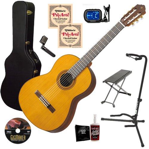 Yamaha CG182C Classical Guitar COMPLETE BUNDLE w/ Hard Case
