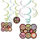 Hippie Chick Swirl Danglers 12 per pack
