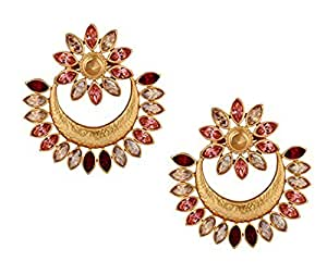 Amrapali Sunset Rani Earring with Crystals from Swarovski