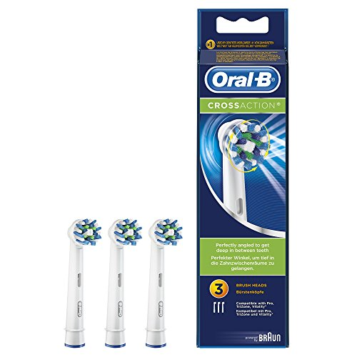 Oral-B Cross Action Testine di Ricambio, 3 Pezzi