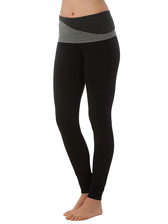 Hard Tail Colorblock Wave Waistband Ankle Legging