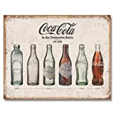 Tin Signs Coke Bottle Evolution Tin Sign 1839
