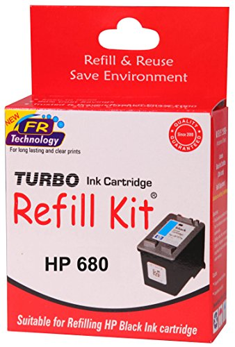 Turbo ink refill kit for HP 680 black ink cartridge  available at amazon for Rs.252