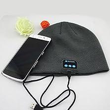 buy Bluetooth 3.0 Speaker Hat Wireless Headset Earphone Mic Cap For Cellphone Hat Wireless Bluetooth Smart Cap Headphone Headset Speaker Mic (Grey)