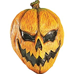 Mens Adult Scary Pumpkin Headless Horseman Halloween Rubie'S Costume Mask One Size, As Shown By Fenvy