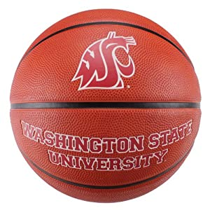 Buy NCAA Washington State Cougars Deluxe Two-Tone Rubber Official Size Collegiate Design Basketball by Baden
