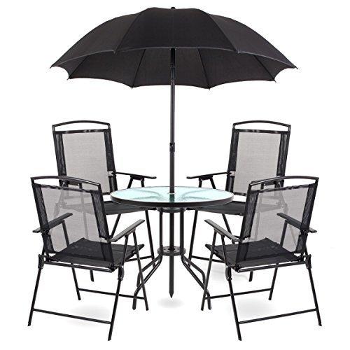 Gartenmöbel Gartenset Gartengarnituren Essgruppe Lounge Tisch Stühle Schirm