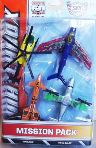 Matchbox Skybusters Mission Pack-Airblade & Twin Blast (Bdc50) front-611372