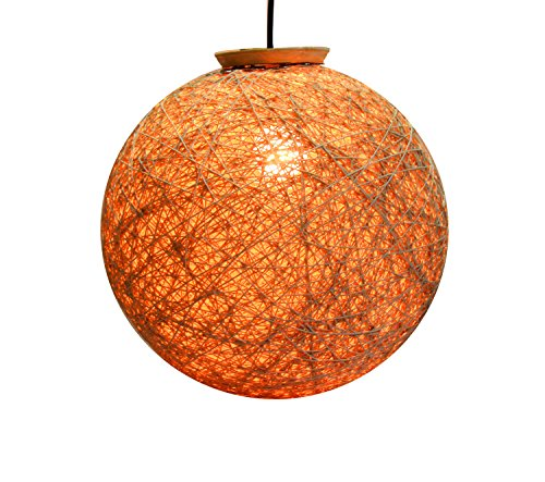 Eartho Hanging Ball Lamp Shades with Yarn (Gold and 85 cm)
