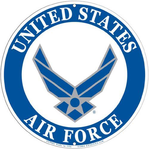 "USAF Air Force Logo Aluminum Sign 12"", United States Air Force Logo Sign Large"