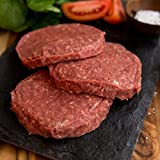 40 (4oz) USDA Organic certified organic grass fed all natural beef patty beef patties. grass fed beef organic meats for delivery.