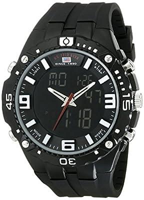 U.S. Polo Assn. Sport Men's US9174 Black Silicone Analog Digital Sport Watch by U.S. Polo Assn. Sport