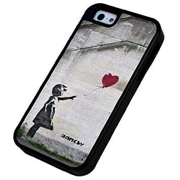 Banksy Coque rigide antichocs pour iPhone 5 5S Motif fille au ...