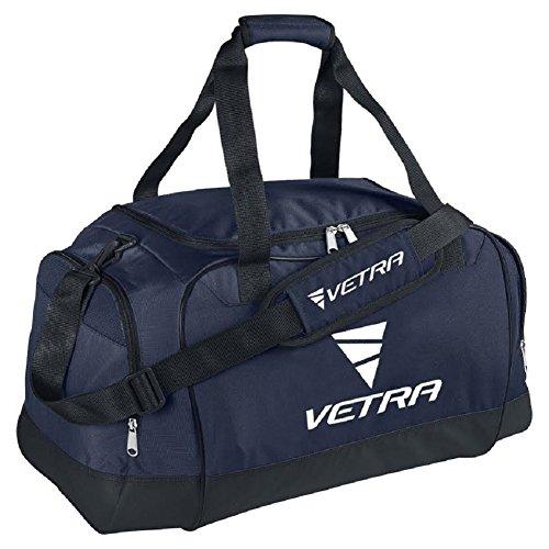 VETRA Focus Borsone Club Team Medio Personale Attrezzatura Borsa M Nero / Navy Blue Calcio Palestra Pallacanestro Tennis Viaggi Borse Duffle NEW (Navy Blue)
