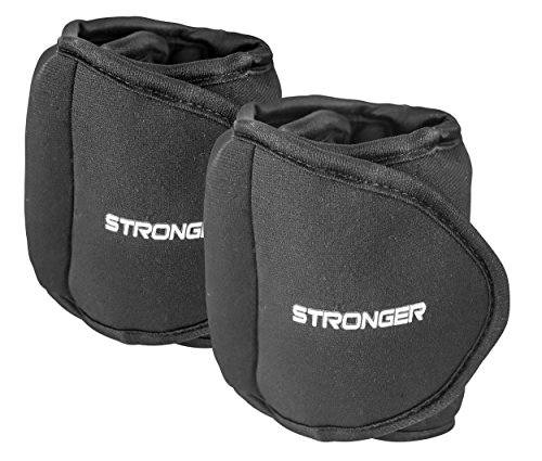 Stronger Adjustable Ankle Weights Set (2x1lb Cuffs) - Professional Fitness Equipment for Women - At Home Workout Equipment for Calves, Glutes, & More (Ankle Weights 1 Lb compare prices)