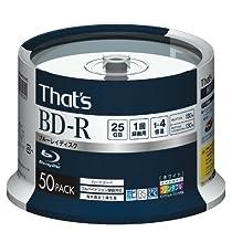 That's BD-R ビデオ用 1-4倍速 180分25GB スピンドル50枚 特価