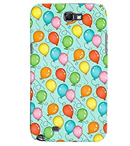 Samsung Galaxy NOTE 2 MULTICOLOR PRINTED BACK COVER FROM GADGET LOOKS
