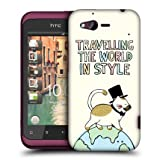 Head Case The Travelling Cat World Traveller Hard Back Case Cover For Htc Rhyme