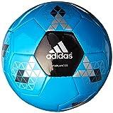 adidas Performance Starlancer V Soccer Ball, Solar Blue/Black/Metallic Silver, 4