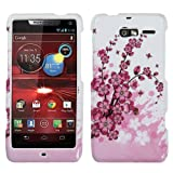 MYBAT MOTXT907HPCIM025NP Compact and Durable Protective Cover for Motorola Droid RAZR M XT907 - 1 Pack - Retail Packaging - Spring Flowers