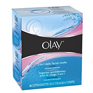 玉兰油Olay 2合1 Normal Daily Facial Cloths卸妆洁面湿巾(66张)