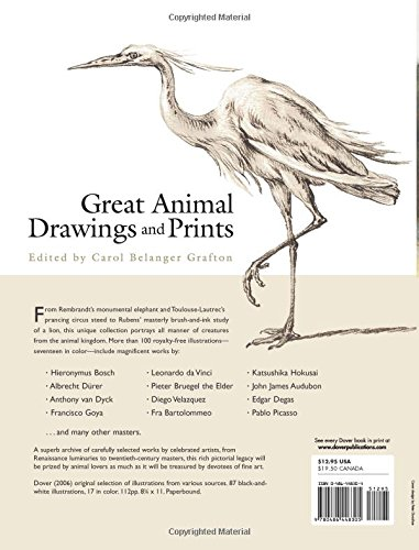 Great Animal Drawings and Prints (Dover Fine Art, History of Art)