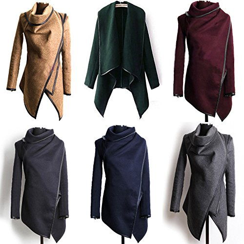 ZEARO-36-46-Femmes-Manteau-Pardessus-Lapel-Longue-laine-Tunique-cardigan-Ponchos-Veste