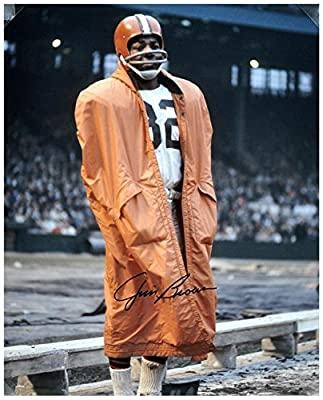 "Jim Brown Cleveland Browns Autographed 16"" x 20"" In Raincoat Photograph - Fanatics Authentic Certified"