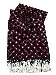 Navaksha Black Geomatric Design Viscose Stoles For Women