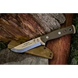 Tops B.O.B. Brothers of Bushcraft Survival Knife - BROS-TAN (Coyote Tan) (Color: tan)