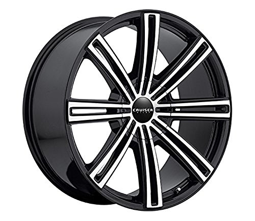 Cruiser Alloy Obsession 17 Machined Black Wheel / Rim 5x110 & 5x120 with a 42mm Offset and a 74.1 Hub Bore. Partnumber 916MB-7752542 (Camaro Ls1 Rims compare prices)