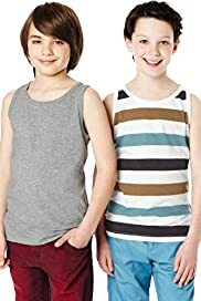 2 Pack Assorted Vest Top