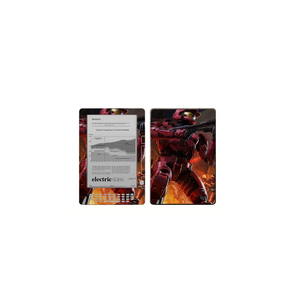 Kindle DX Protective Skin Kit Halo Reach Master Chief #2 Gaming