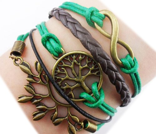 ACUNIONn™ Twinkle Handmade Infinity Wish Tree and Leaf Charm for Friendship Gi…