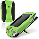eForCity Leather Case for Leapfrog LeapPad 2, Green/Black (PLPFLEAPLC01)