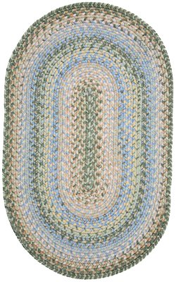 Out-Durable Braided Multi-Colored Malibu Oval Rug Size: Runner 2'6