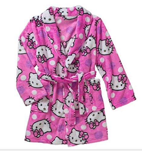 Hello-Kitty-Big-Girls-Happy-Kitty-Plush-Robe-Bathrobe-Pajamas