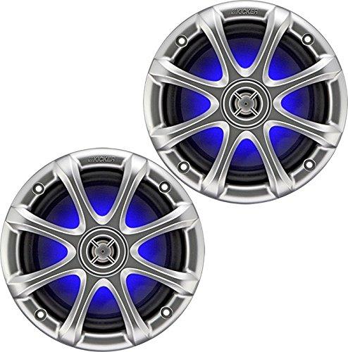 2-Pair (4-Speakers) Kicker 09KM6130LED KM6130LED KM6130-LED Illuminated Light Lighted Marine 6