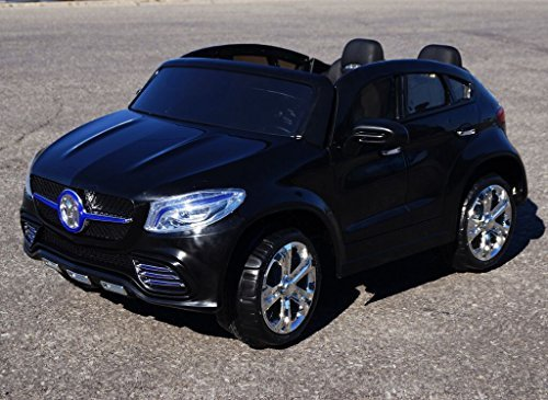 Ride-on-Kids-Electric-car-MERCEDES-ML-style-model-HLG9388-24V-REAL-PAINT-TWO-SEATER-Big-Black