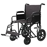 Heavy Duty Wide Folding Bariatric Transport Wheelchair