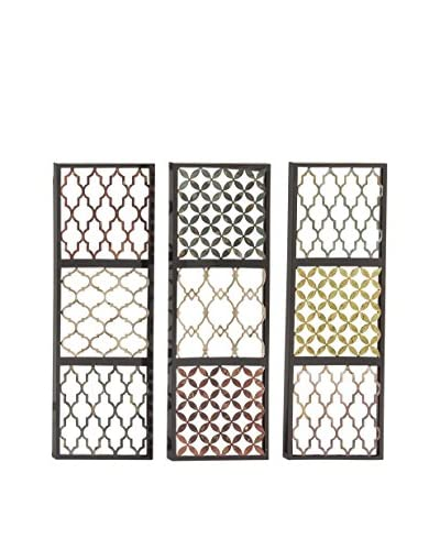 Set of 3 Metal Wall Décor Accents, Multi