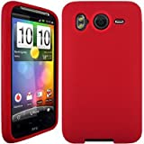 Wayzon Red HTC Desire HD Case Cover Skin Pouch Shell Plain Silica Rubber