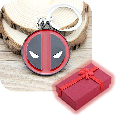 Nido del Bimbo 1000647 - [DEADPOOL LOGO R] Portachiavi Marvel The Avengers Dc Comics Justice League of America Star Wars Film Videogiochi Cartoni Animati Supereroi Fumetti Manga Villians Cattivi Buoni