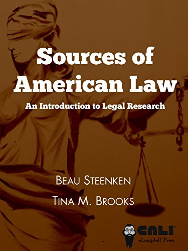Large book cover: Sources of American Law: An Introduction to Legal Research
