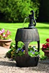 Barrel Water Feature and Planter With...
