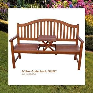 bank gartenbank sitzbank holz holzbank mit tisch neu. Black Bedroom Furniture Sets. Home Design Ideas