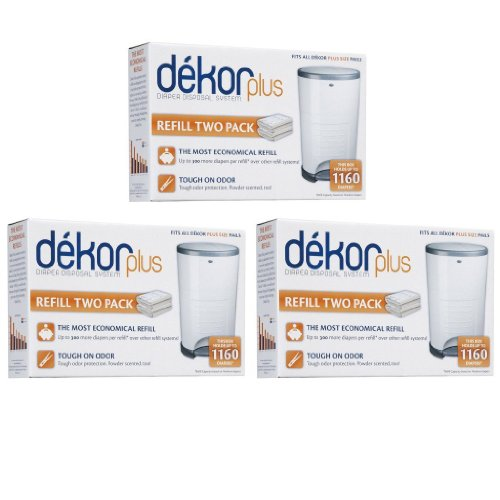 Diaper Dekor Plus Refills, 6 Count, 3 Pack