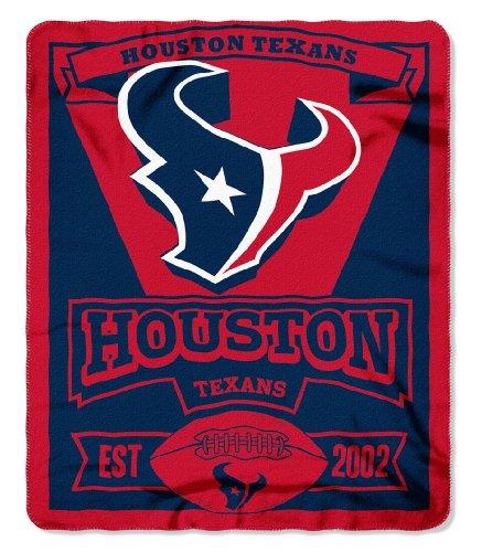 Northwest NOR-1NFL031020119RET 50 x 60 in. Houston Texans NFL Light Weight Fleece Blanket, Marque Series