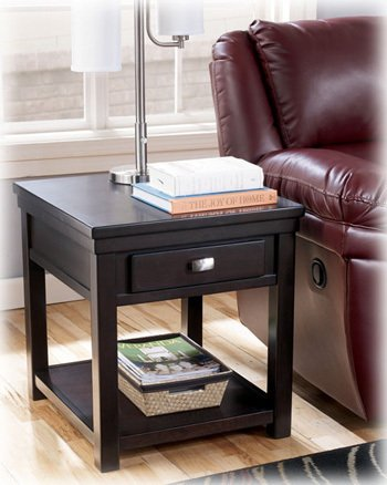 Cheap Espresso Deep Brown End Table by Ashley Furniture (T864-3)